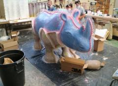 Rhino mould WIP, Rhino project, Fabrication Cape Town