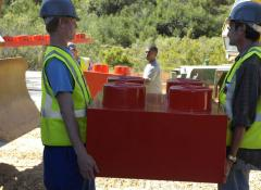 Giant fabricated lego blocks, Large scale Fabrication Cape Town