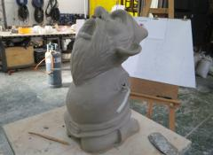 Clay sculpture of IKEA gnome. Fabrication Cape Town