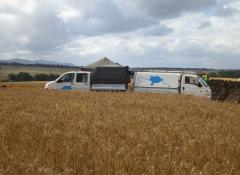 The Hyundai and our transporter people carrier. SFX vehicles