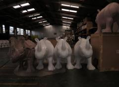 Rhinos ready for artists, Rhino project, Fabrication Cape Town