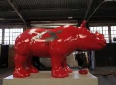Final painted rhinos, Rhino project, Fabrication Cape Town