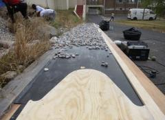 Custom made pebbles and sliding rig. SFX Fabrication and Effects