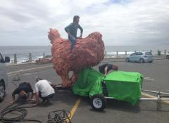 Giant Headless chicken running, Special Effects rigs and Fabrication Cape Town