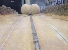 Model train track and landscape for Eis commercial. Special Effects Model making Cape Town