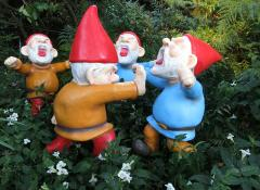 Completed IKEA gnomes, Fabrication Cape Town