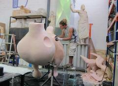 The making of a Giant Headless chicken, Fabrication Cape Town