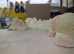 Model landscape work in progress for Eis commercial. Special Effects Model making Cape Town