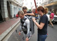 Fabricated Jetpack with Co2 smoke rig. SFX Fabrication and smoke South Africa