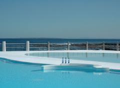 Floating Fabricated cream dollops and bar. Fabrication Cape Town