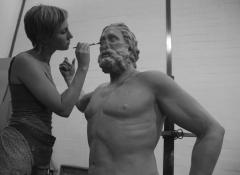 Poseidon in clay , life size replica. Sculpture and Fabrication, Cape Town
