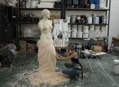Sculpting in urethane with correct mask protection
