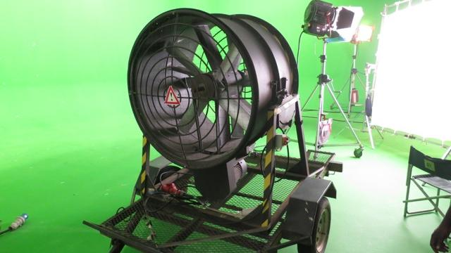 Indoor electrical wind machine